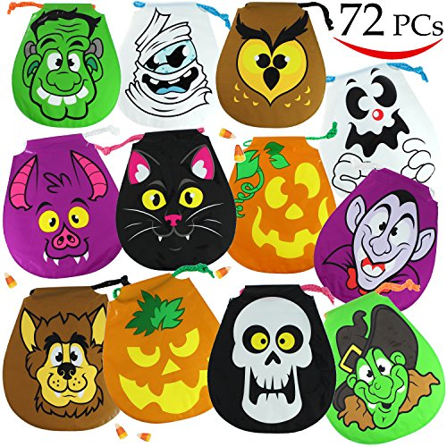 Halloween Warehouse (Spooktacular Creations Pack of 72 Halloween Drawstring Goody Bags for Halloween Treats, Halloween Party Favors, Halloween Party Supplies)