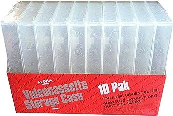W//FULL SLEEVE PSV12 50 HIGH QUALITY WHITE VHS VIDEO BOX LIBRARY CASE NO HUB