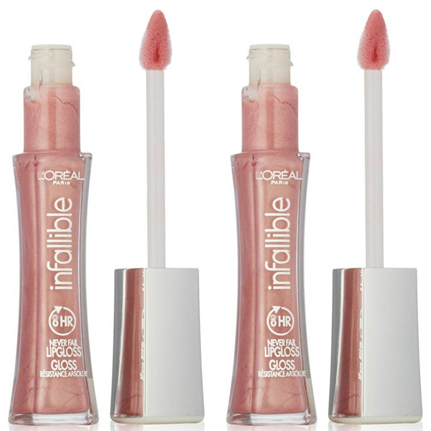 L'Oréal Paris Infallible 8 HR Pro Lip Gloss, Petal (Pack of 2)