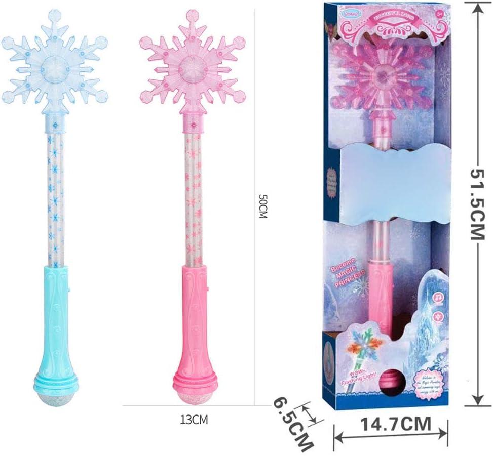 Ourine Varita Musical Stick con luz Varita Musical Stick con luz Sonido Navidad Cosplay Fairy Glow Stick Juguetes Regalos para ni/ños Rosa