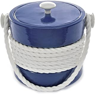 product image for Mr. Ice Bucket Navy Rope Ice Bucket, 3-Quart