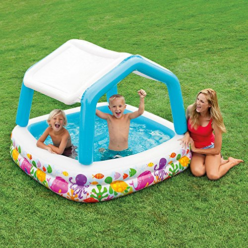 Intex Sun Shade Inflatable Pool, 62 X 62 X 48, for Ages 2+