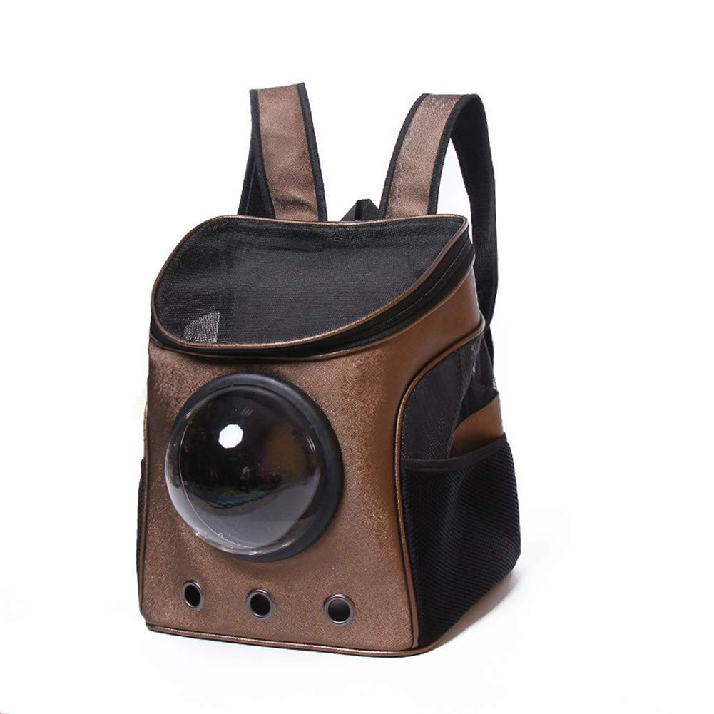 Brown Shocly Pet Carrier Breathable Cat Dog Puppy Bag Travel Tote Backpack For Small Animals Portable Foldable Collapsible Outdoor