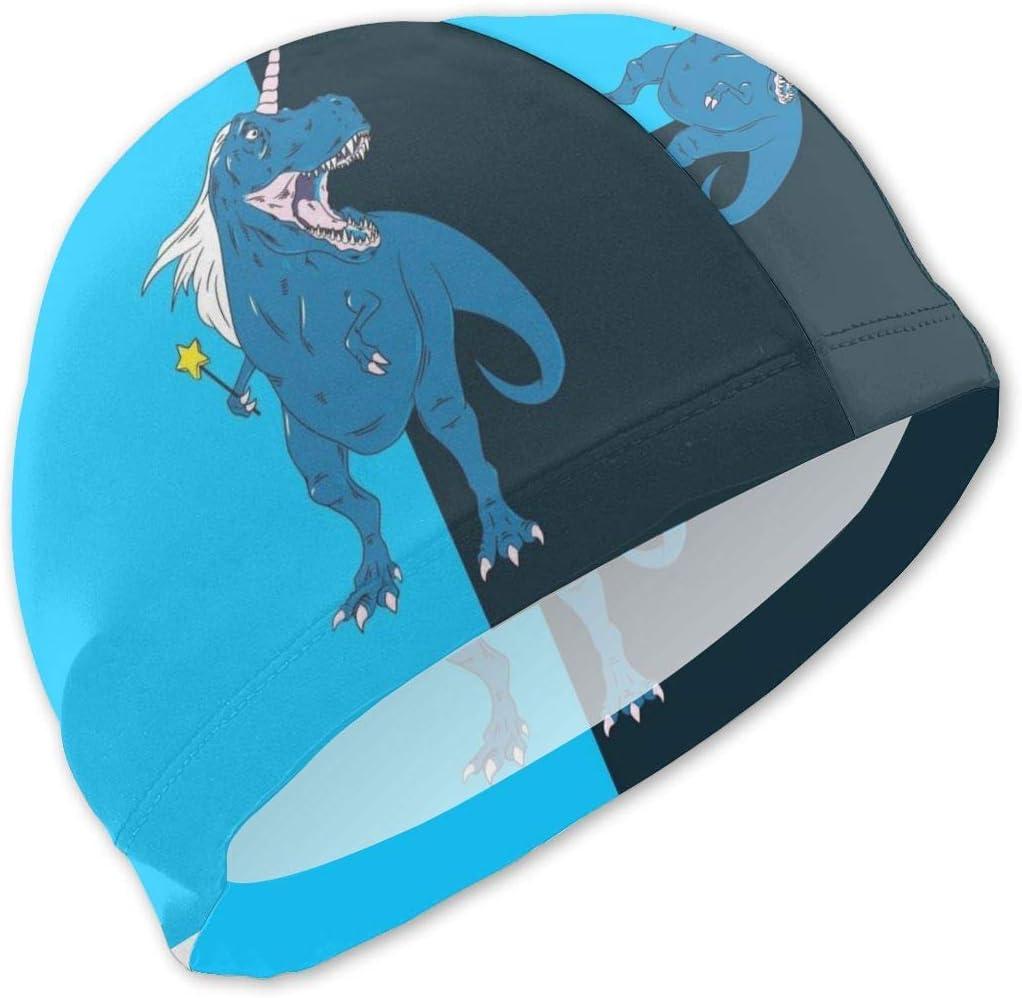 Dinosaurs Unicron Funny Swim Caps Niños Impermeable Cómodo Gorro de baño