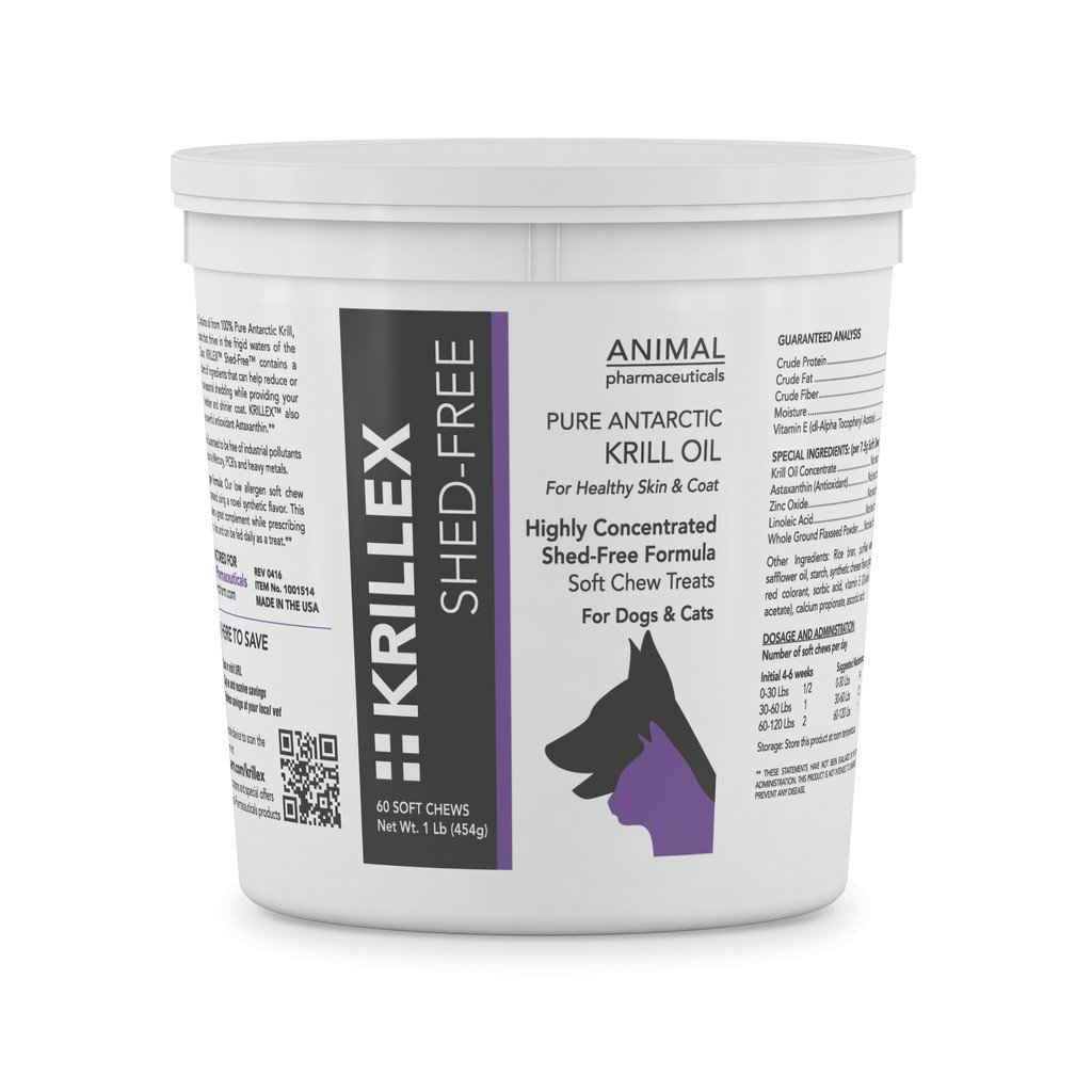 Animal Pharmaceuticals 60 Count Krillex Shed-Free Formula Supplement