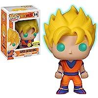 Funko Super Saiyan Goku [Glow-in-Dark] (EE Exclusive): Dragonball Z x POP! Animation Vinyl Figure & 1 POP! Compatible…