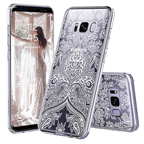 finest selection ae7bb ee021 Galaxy S8 Plus Case, Galaxy S8 Plus Cover, MOSNOVO Damask Henna Mandala  Lace Pattern Clear Design Transparent Plastic Back Case with TPU Bumper  Case ...