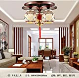 Modern New Chinese Ceiling Lamp Round Living Room Classical Atmospheric Dining Room Bedroom Ceramic Solid Wood Lighting Lighting lu1121013py ( Color : Style A )
