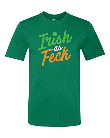 b98fdf326 Amazon.com: Panoware Men's St Patricks Day T-Shirt | Irish as Feck ...