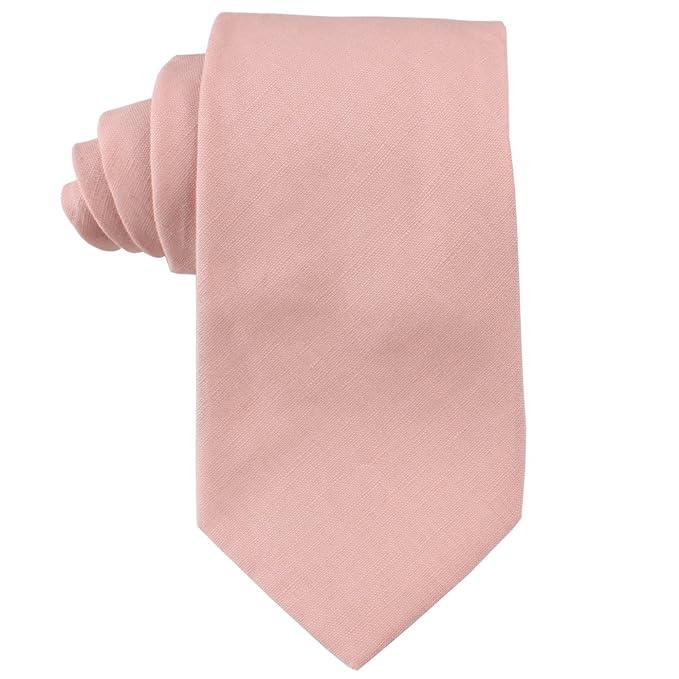 AUSCUFFLINKS Sonrojo de algodón corbatas de lino corbatas de lino ...