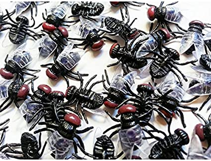 Halloween Plastic Flys Joking Toys Party Decoration Realistic drop shipping Lot