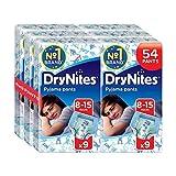 Huggies DryNites Boys Pants 8-15 Years, Designs May Vary - 6 Packs (Total 6 x 9 Pants) by Huggies