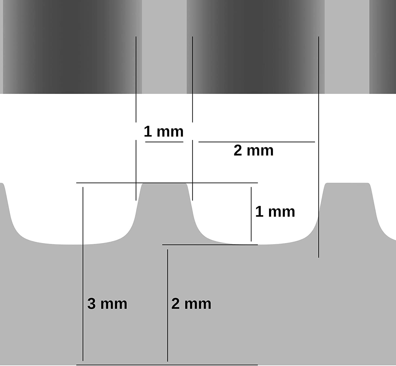 ANRO Gummimatte Schutzmatte Noppenmatte Bodenmatte mit Noppen Gummil/äufer 120cm Breit 3mm stark Schwarz 260 x 120cm
