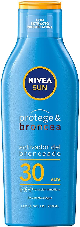 Protege & Broncea Leche Solar Activadora del Bronceado FP30, 200ml