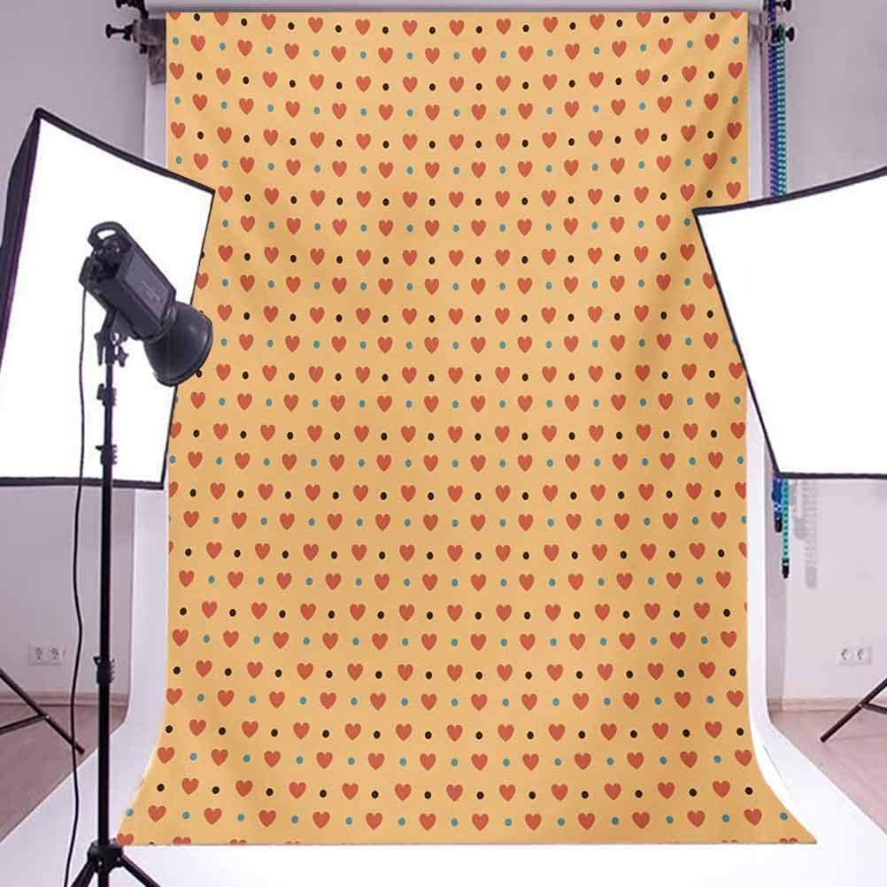 Romantic 10x12 FT Photography Backdrop Valentines Day Inspired Love Couple Sign Hearts and Retro Polka Dots Background for Baby Birthday Party Wedding Vinyl Studio Props Photography