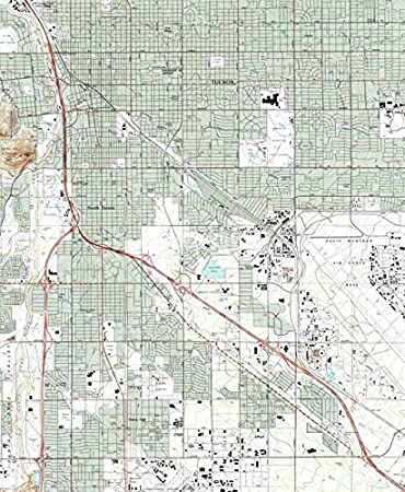 Amazon.com: Imagekind Wall Art Print Entitled Tucson Arizona Map ...