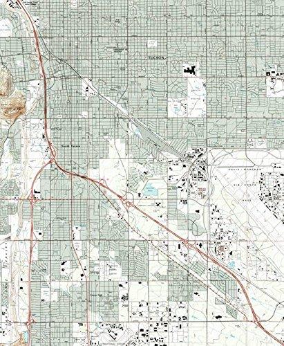 Amazon.com: Imagekind Wall Art Print entitled Tucson Arizona Map ...
