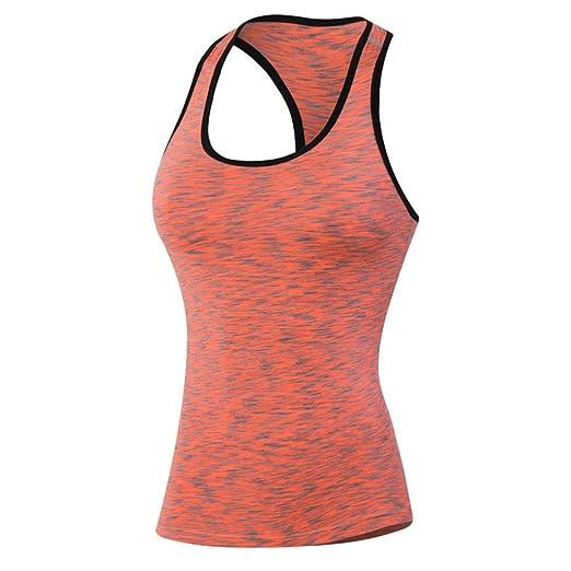 Camiseta de entrenamiento de yoga para mujer Camisetas sin ...
