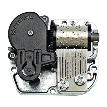 Bankour Silver Plated Wind up Sankyo Musical Movement for DIY Music Boxes