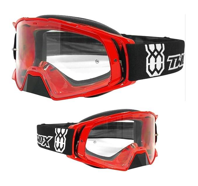 a86e5e2a907710 Amazon.fr   Lunettes de protection Two-X Rocket pour moto cross - Avec verre  teinté gris - Anti-rayures - Protection du nez.