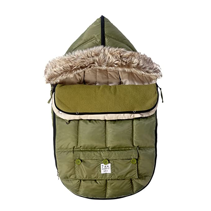 7 A.M Enfant Warmmuffs Stroller Gloves with Universal Fit Army