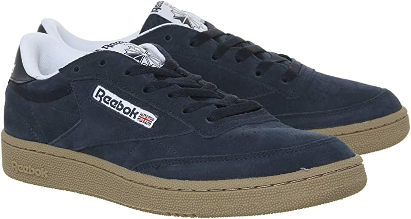 Reebok Club C 85 Sneakers Fitnessschuhe Herren Marineblau (Indoor/Collegiate Navy/White/Gum)