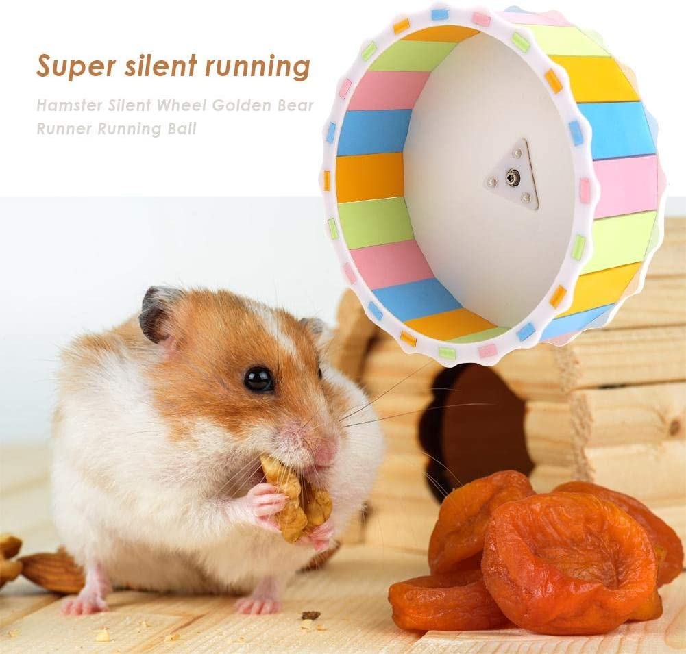 Hedgehog Dwarf Hamster House Exercise Play Toys Wooden Hut Safe Non-Toxic Hamster Cage Accessories for Hamsters Mice Fenteer Set of 2 Hamster Hideout
