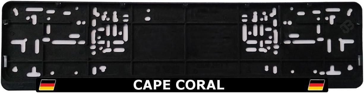 1 St/ück Anzahl Design Stadt JOllify Cape Coral Nummernschildbefestigung Kennzeichenhalter