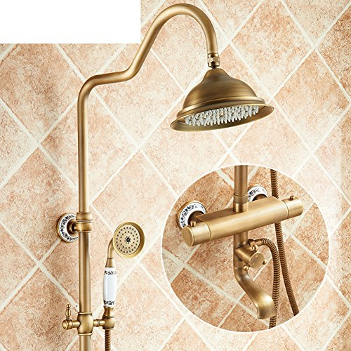 European antique thermostatic shower/All copper retro thermostat/Faucet-2 ()