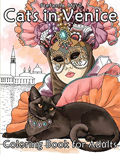 Cats in Venice: Coloring book for adults -