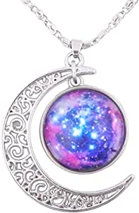 FANSING Gifts for Women Nebula Pendant Necklaces for Women Planet Jewelry