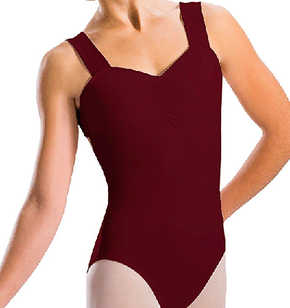 fa3f6769a Amazon.com   Motionwear Pinch Front X-Back Wide Strap Leotard   Clothing