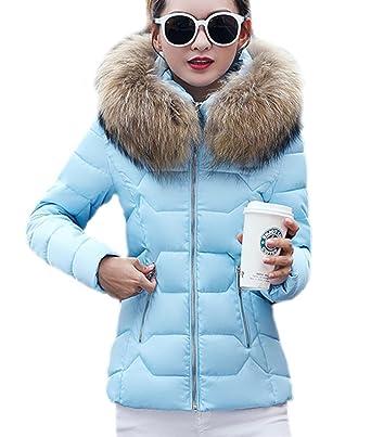 Ghope Damen Winter Jacke Füttern Kurz Gepolstert Baumwolle