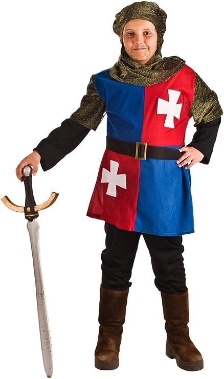 Disfraz Medieval Cuartelado para niño A-(3/5A): Amazon.es ...