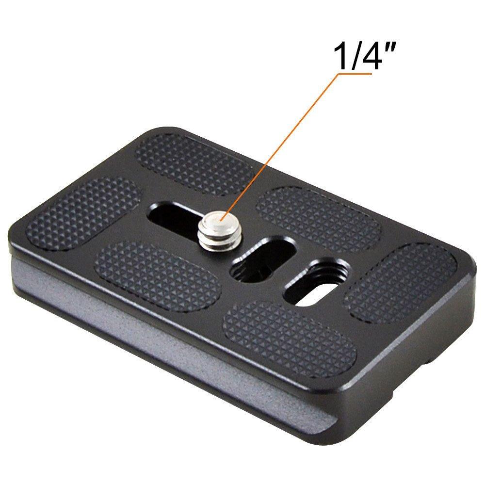 MENGS/® PU60 Plato de Liberaci/ón R/ápida para DSLR y C/ámaras Digitales compatible con Tornillo de C/ámara de 0,25