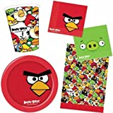 Angry Birds Party Pack for 8 - 8 cups, 8 plates, 16 napkins & 1 plastic tablecover