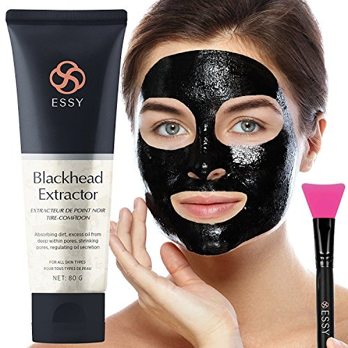 Black Mask Blackhead Remover Purifying Black Peel Off Mask - Activated Charcoal Deep Cleansing Facial Acne Pore Cleaner 40g