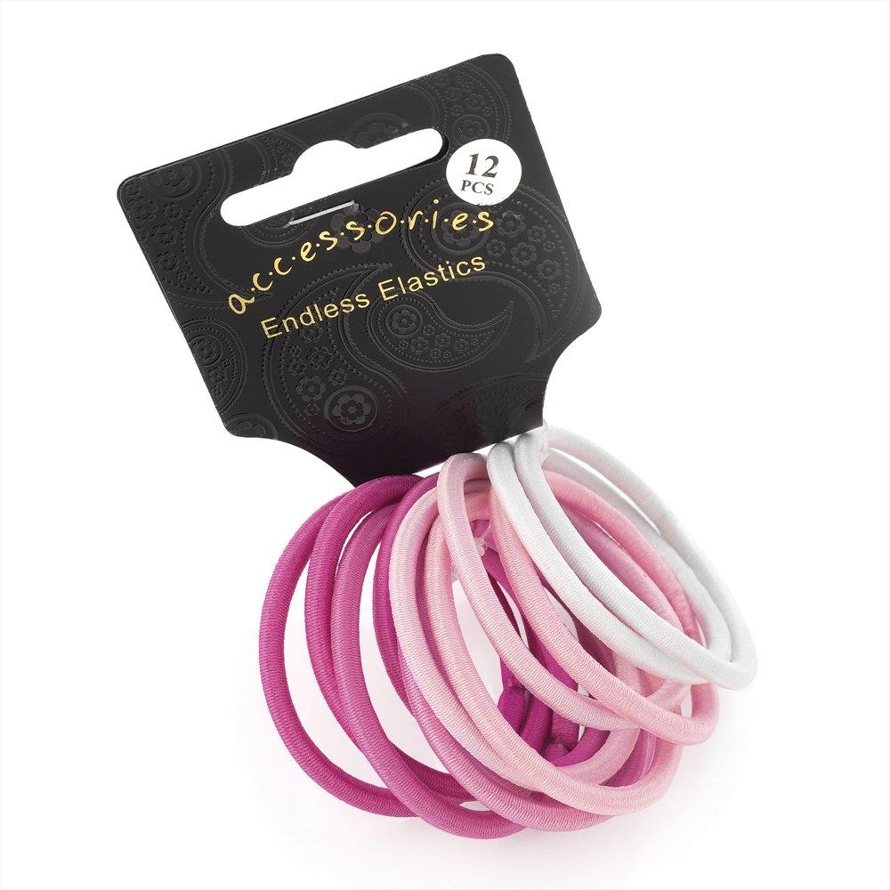 42 x  Thick Pink Hair Elastics// Bobbles// Ponios
