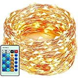 99ft/30m 300LEDs String Lights, xtf2015 Copper Wire Lights Waterproof Dimmable Starry Lights with Remote Control for Bedroom, Patio, Garden, Yard, Wedding and Party , Warm White