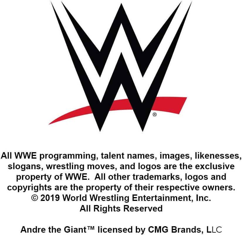 Graphics and More WWE Andre The Giant Giant Stamp Novelty Metal Vanity Tag License Plate