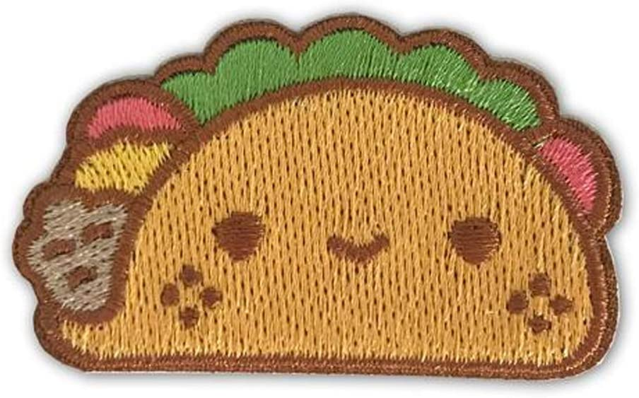 Taco Round Iron-On-Patch