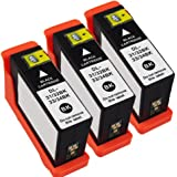 Inkcool Compatible Dell Series 31 XL Black (Series 33) Extra High Capacity Ink Cartridges for Dell V525w V725w Printers(3 Black)