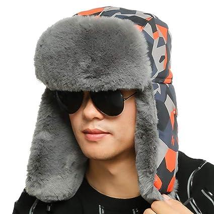 Sombrero de piloto Unisex Winter Trooper Hat, Sombrero de Caza para Hombres y Mujeres,