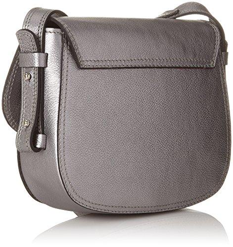 cm femme épaule x Argent B H T und Kennel portés Sacs Alluminio Taschen x 5x17x19 Schmenger fwxtRgqYv