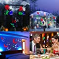 Liibot Party, Holiday Waterproof Projector Lights with 10 PCS Replaceable Slides for Valentines day, Birthday, Halloween, Christmas, Landscape and Garden Decoration