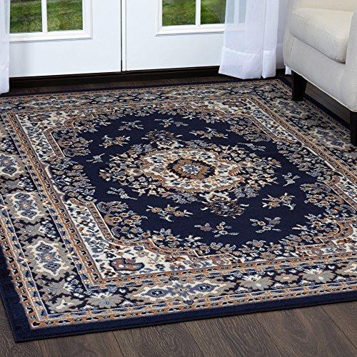 - Home Dynamix Premium Sakarya Traditional Area Rug, Oriental Navy Blue 7'8