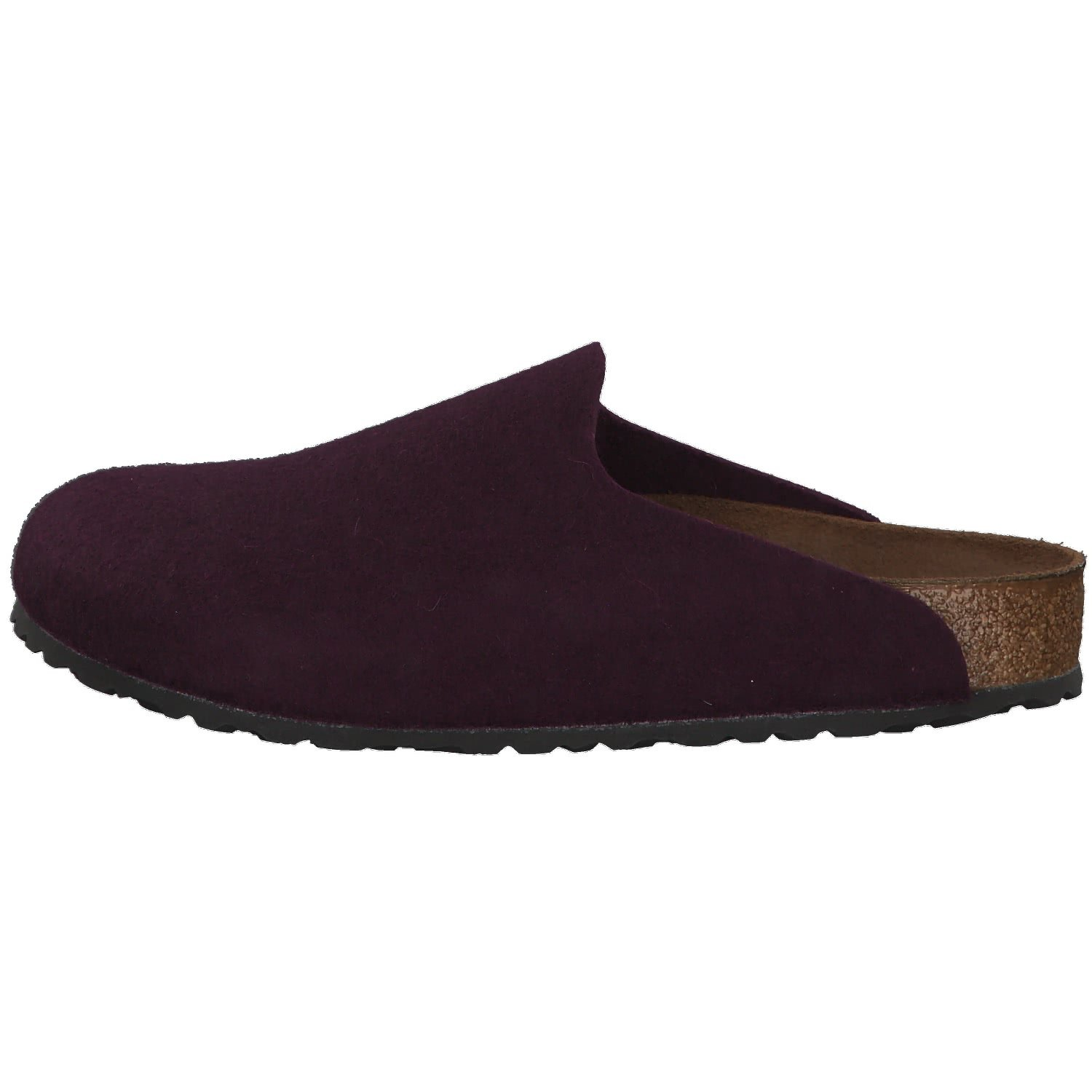 2ea146cc5b85 Birkenstock Amsterdam 1011791 (Reg) Ladies Felt Clog Slippers Melange  Aubergine  Amazon.co.uk  Shoes   Bags
