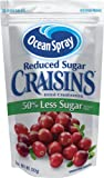 Ocean Spray Reduced Sugar Craisins, Dried Cranberries, 5 Ounce (Pack of 12)