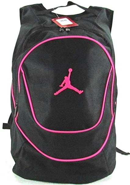 dd3d60f5238 Image Unavailable. Image not available for. Color  Jordan Nike Air Jumpman  Sports Bag Backpack-Black Pink
