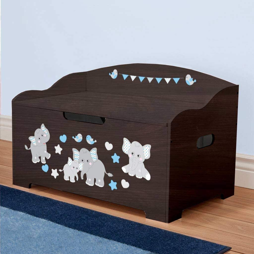 Dibsies Modern Expressions Toy Box Dinosaurs Espresso